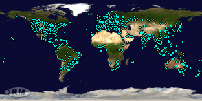Locations of Site Visitors since 9 October 2017