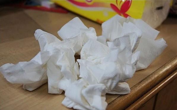 用過的衛生紙