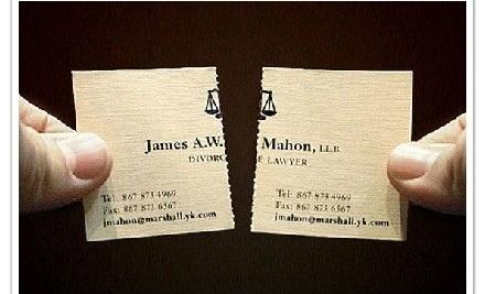 離婚律師名片,可撕開