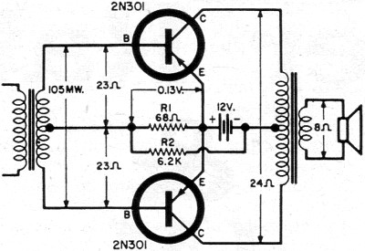 Push-Pull Class B Transistor Power-Output Circuits