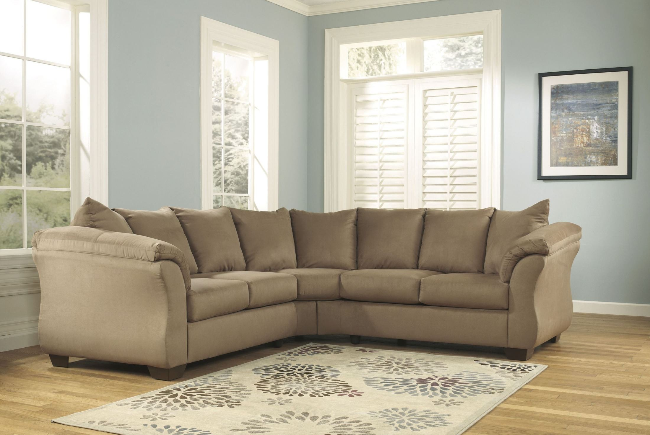 ashley furniture morandi mocha sofa twin bed furnitureetc and more darcy sectional from