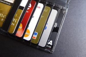 Wallet with bank cards
