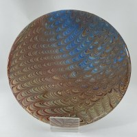 acrylic pouring comp technique on round wood