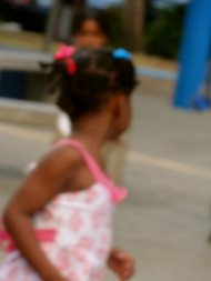 little girl in curacao.