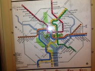 Subway map of DC