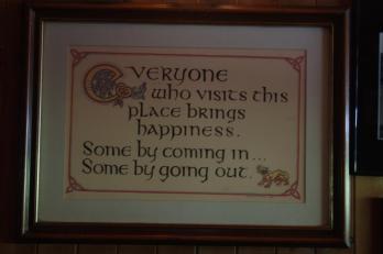 dentro al pub.....messaggio di benvenuto!