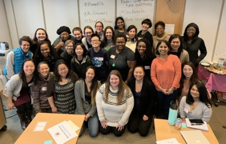 Group photo of women at the Chicago package development workshop