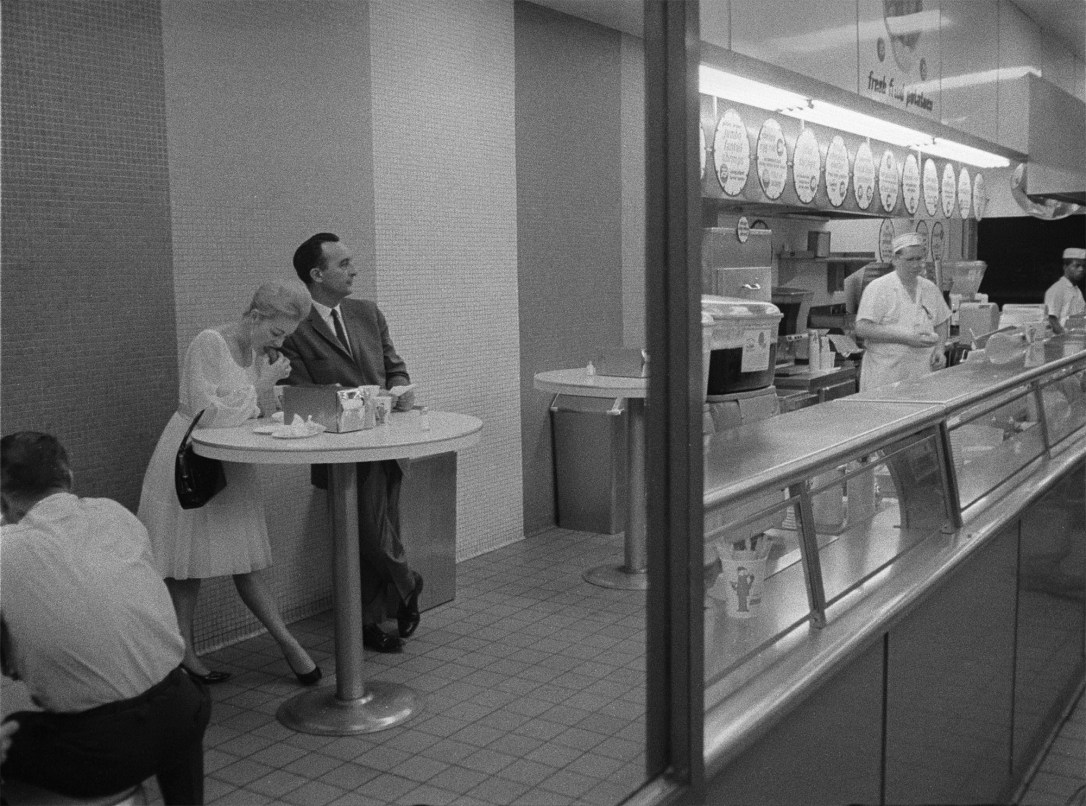 Standing Cafeteria Dining by Harold Feinstein