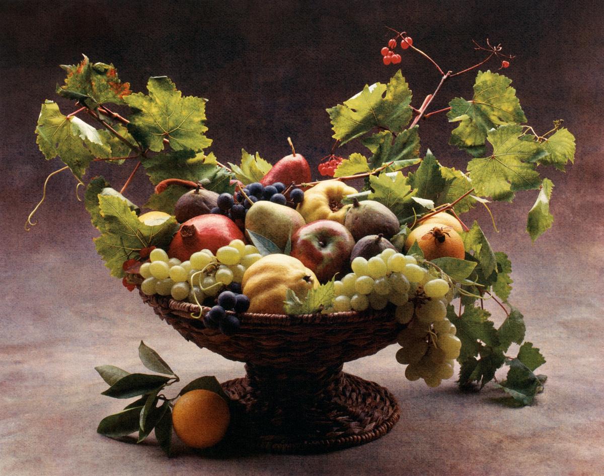 Caravaggio Harvest © Cy DeCosse,3-Color gum dichromate print.