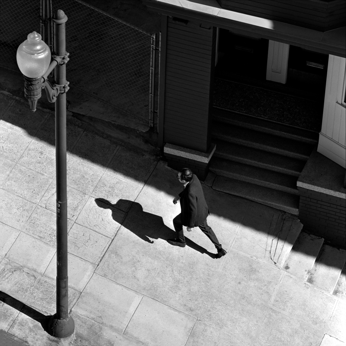 Man Walking Up San Francisco Street G Fred Lyon
