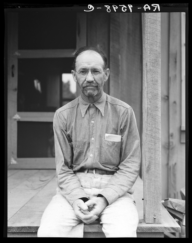President of the Southern Tenant Farmers Union at Hill House, Mississippi by Dorothea Lange
