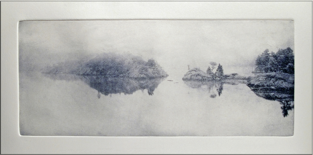 Mind the Gap, photogravure etching, © Peter Miller