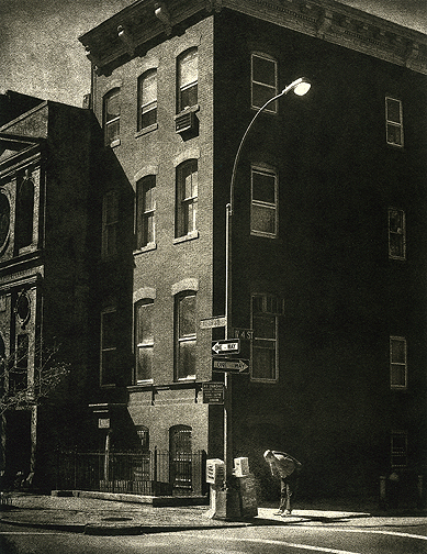 Edward Hoppers Corner © Peter Liepke, Platnuim/Palladium
