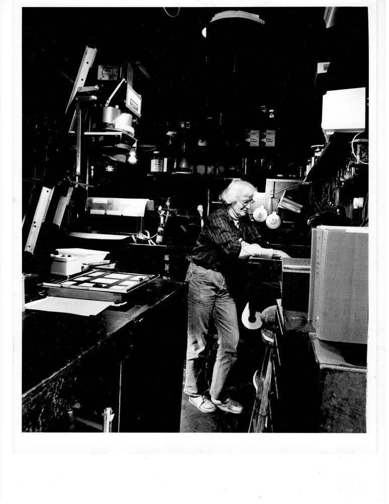 Edna in Darkroom by Kurt Fishback (1980)