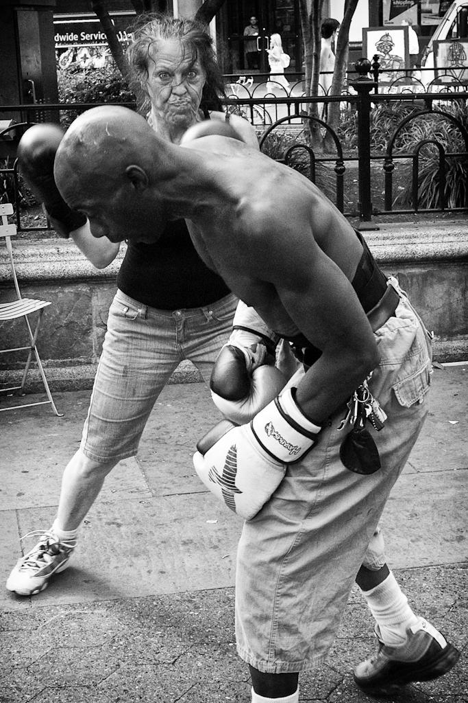 Union Square Boxers © Reuben Radding