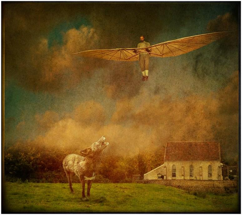 Glider over Lacock © Fran Forman