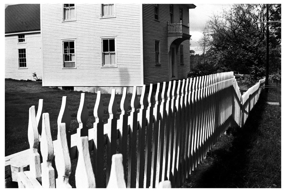 Shaker Fence, Sabbathday Lake, Maine. 1966 © John Loengard