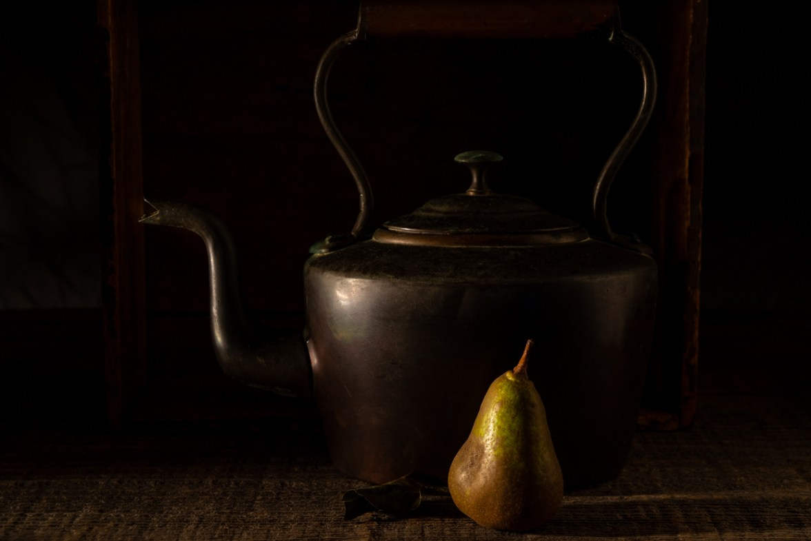 Kettle and Pear© Barbara Moon Batista