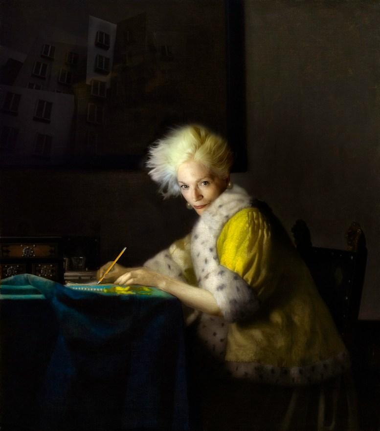 A Lady Writing© Fran Forman