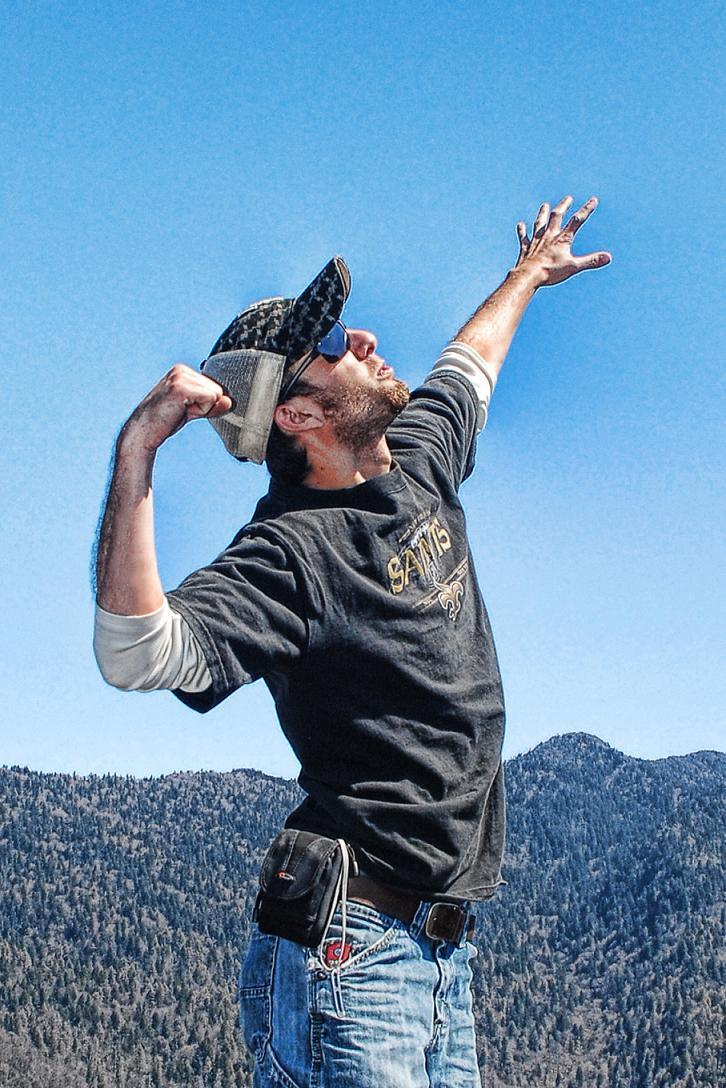 Brandon at the Summit of Chimney Top