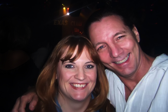 Me and my Bride at a Zebra Concert at the Texas Club