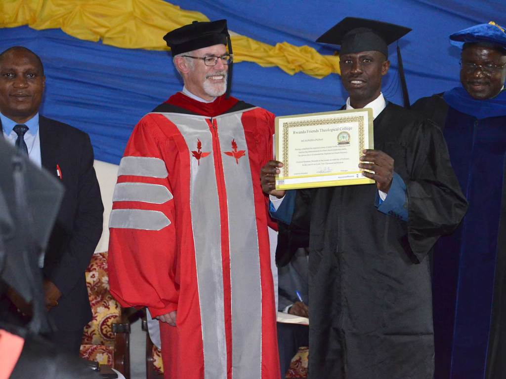 Receiving Diploma