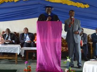 Robert Wafula Addressing Graduates