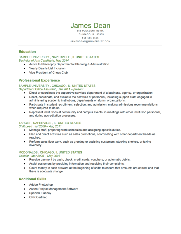 free reverse chronological resume template