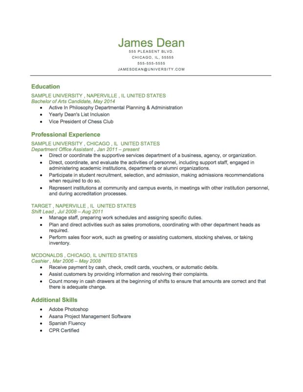 resume reverse chronological order