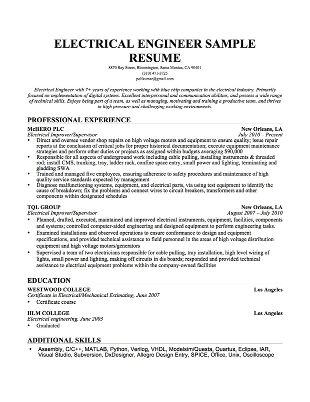 Sample Professional Profile In Resume Cover Letter Virginia Tech