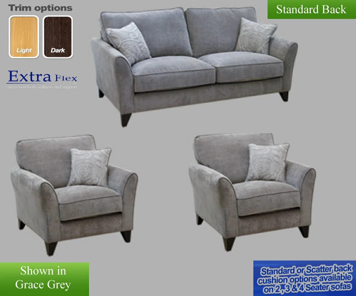 Fairfield Chairs Buoyant Fairfield Plain 3 Seater Sofa And 2 Chairs Fairfield Plain Rg Cole Furniture Limited
