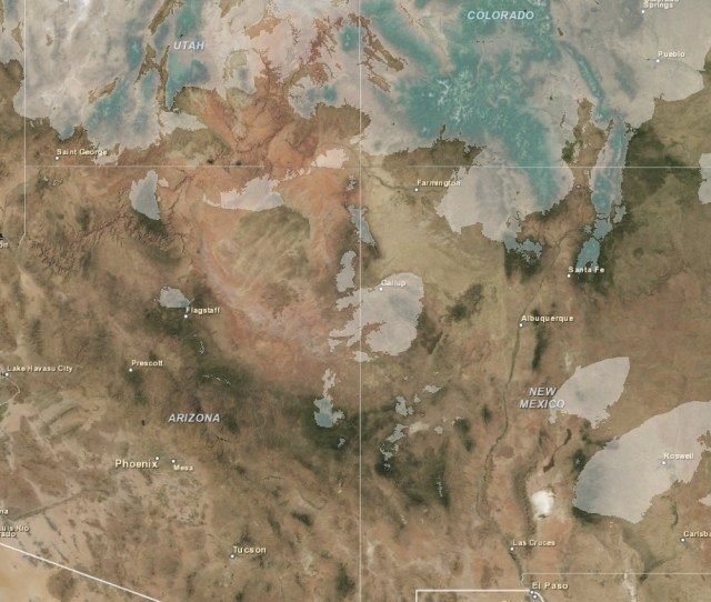Snow Cover Satellite Image And Snotel Data