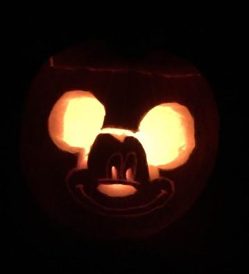 My attempt at a Mickey Mouse pumpkin.