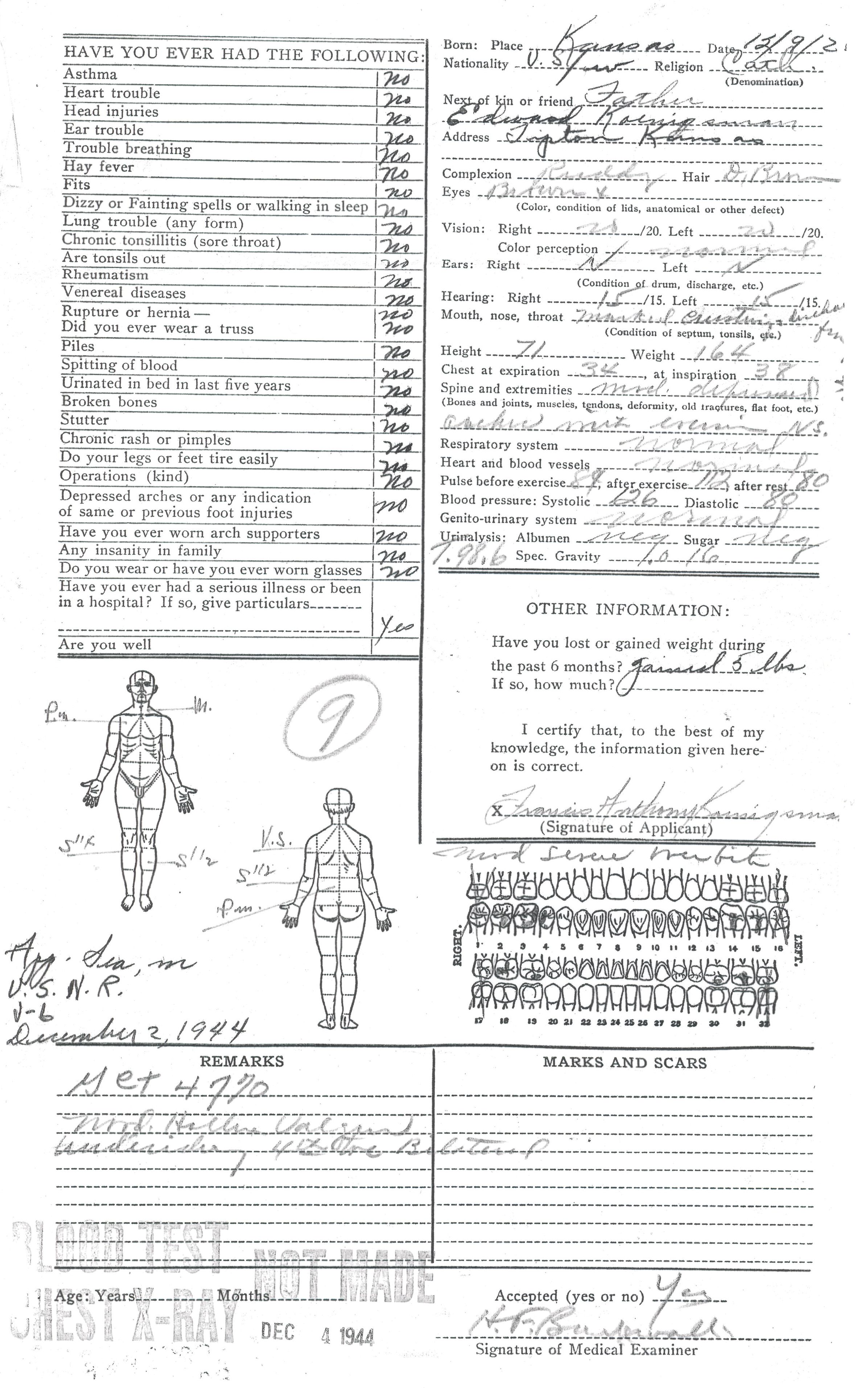wwii military enlistment records