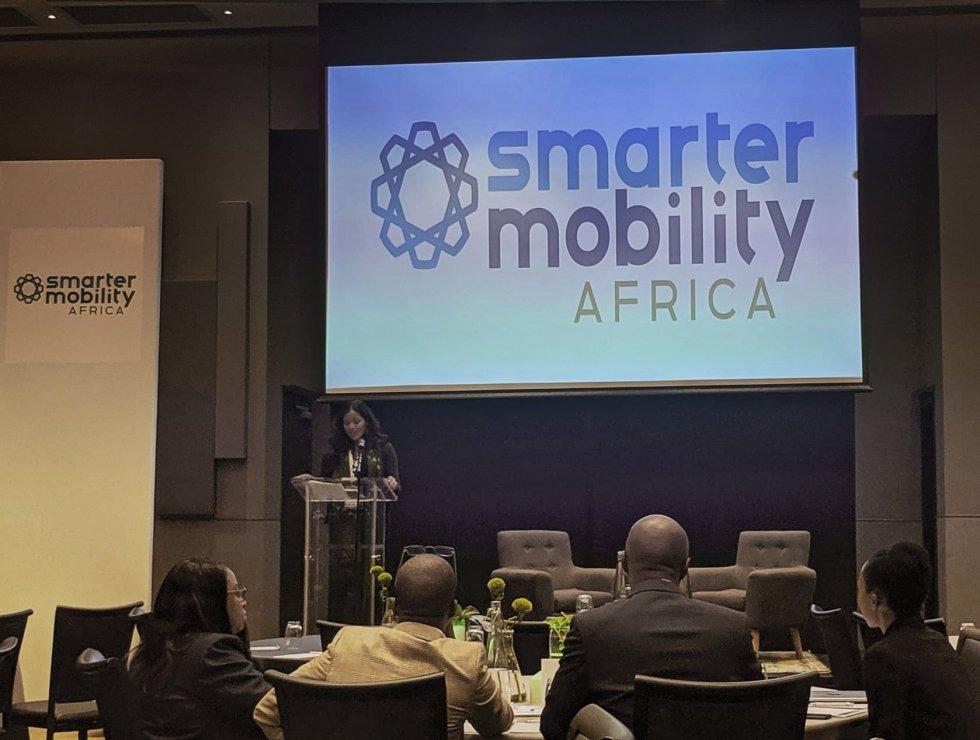Rebekah Shirley hosting at Smarter Mobility Africa