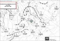 overall synoptics show higher pressure in SE