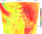 strong winds predicted by NMM