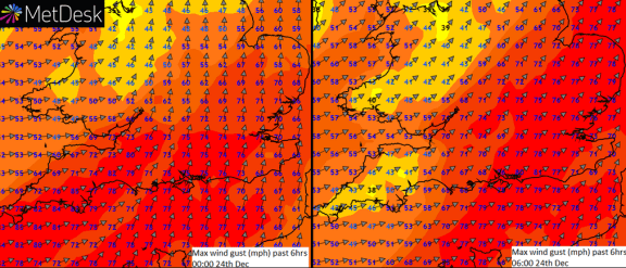 peak possible gusts- tie down the tinsel