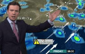 Alex Deakin shows SW prevailing winds delivering rain