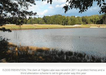 Tilgate dam raised 2.5m