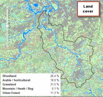 land use map 12% urban