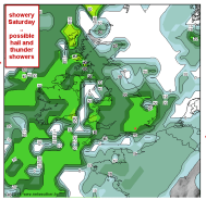 possible thunder showers
