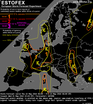 Estofex warnings typical of May