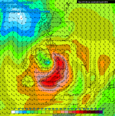 Gales for NW Irish Sea and N Sea