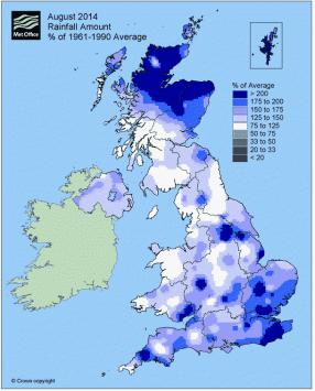 rain 156% above long term average