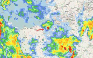 Likely radar signature for Bromborough