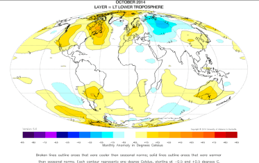 October 2014: warmest on record?