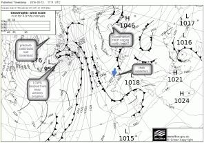 UKMetOffice chart easterly winds