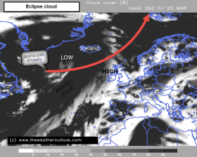 cloud cover forecast eclipse day