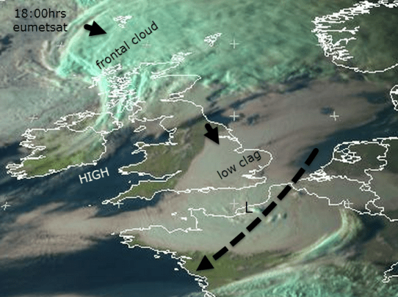 yesterday sat pic of upper low over Channel